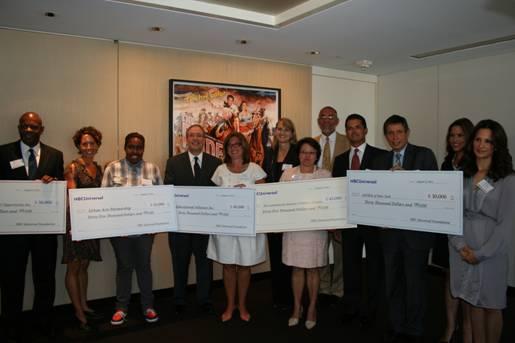 NBCU Foundation Check Presentation