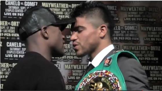 VIDEO: Victor Ortiz ( @VICIOUSortiz ) & Floyd Mayweather ( @FloydMayweather ) — THE FINAL KISS-OFF!