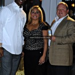 Victor Cruz with Inca Kola's Randy & Elizabeth Berman