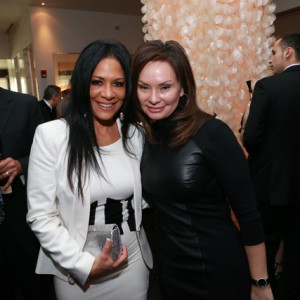 United States Treasurer Rosie Rios (right) posing with a fellow guest.
