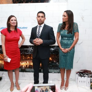 From left to right: Maria Teresa Kumar (CEO/president, Voto Latino), actor/activist Wilmer Valderrama and actress Rosario Dawson, who founded Voto Latino in 2004.
