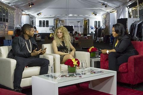 Usher and Shakira with Oprah