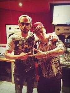Yandel and Justin Bieber