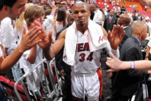 Eighteen-year veteran Ray Allen's 3-pointer with just over five seconds left in Game 6 of the NBA Finals bailed the Miami Heat out Tuesday.