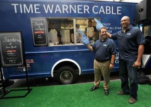 Bernie Williams and TWC's SVP of Corporate Development Mike Roudi