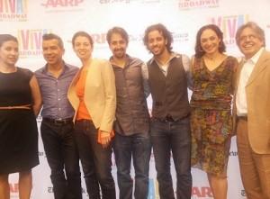 Tanzina Vega, Sergio Trujillo, Quiara Alegria-Hudes, Lin-Manuel Mirando, Luis Salgado, Gabriela Garcia & Luis Miranda
