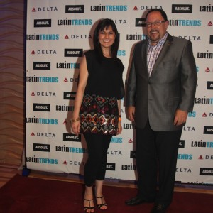 Nathalia Ortiz of TelemundoNY and Bob Unanue, president of Goya Foods