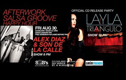 Alex Diaz & Layla Angulo at Salsa Groove Fridays at SOB's