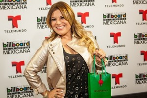 Diana Reyes celebrated A Lo Grande with Buchanan's at the Billboard Mexican Music Awards 2013 rehearsals.