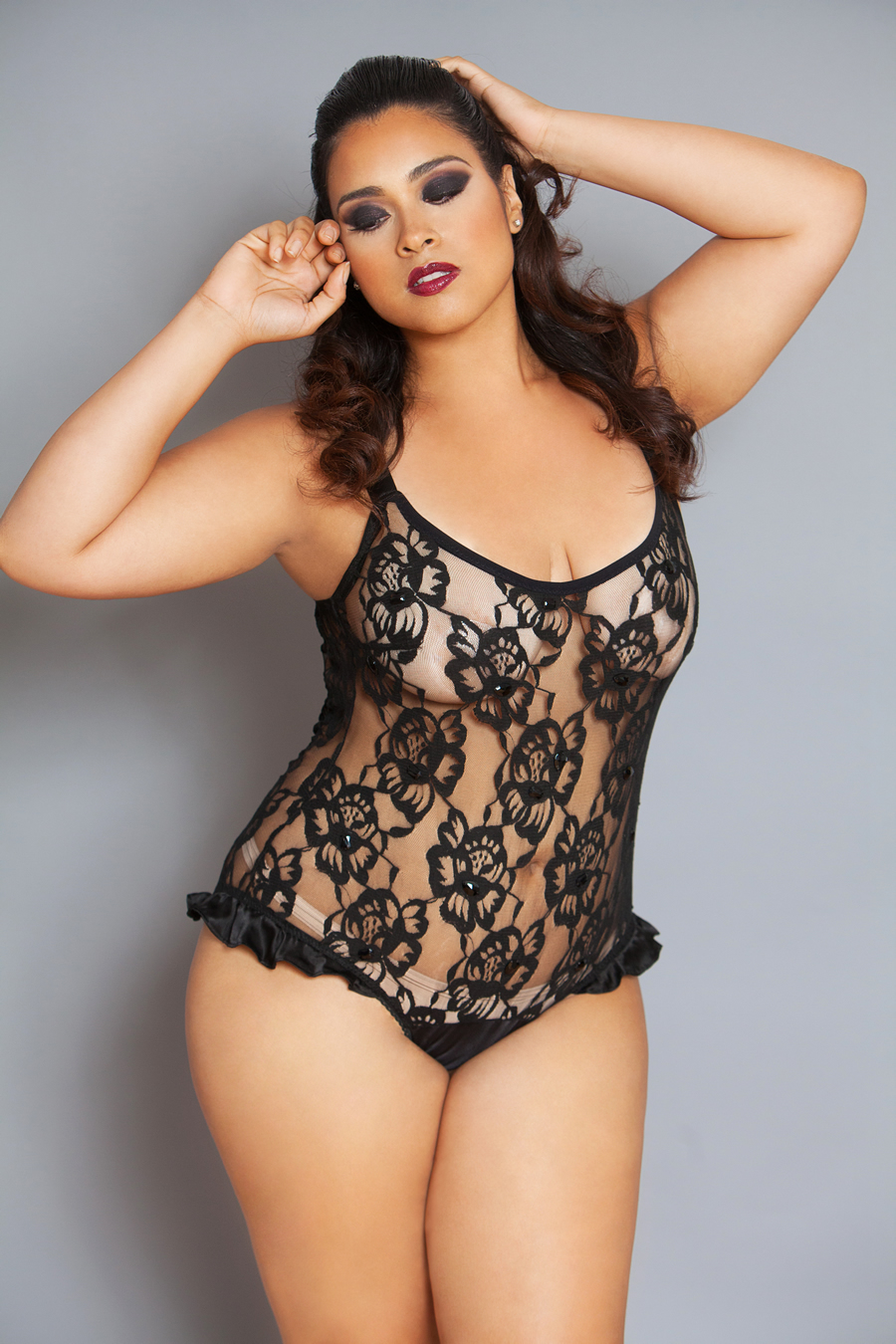 Plus size lingerie models 5