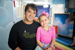 Luis Fonsi and Izarah at St. Jude Children's Research Hospital