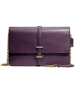 Coach legacy slim clutch in leather
