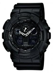 G-Shock Watch, Men's Black Resin Strap GA100-1A1