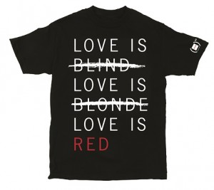 (GIRL)RED Love is Red Tee Black