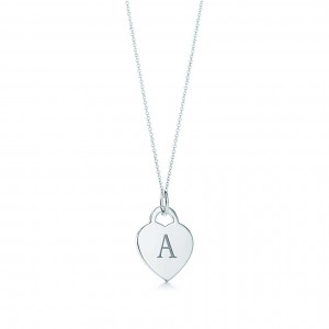 Tiffany & Co alphabet heart tag letter charm and chain