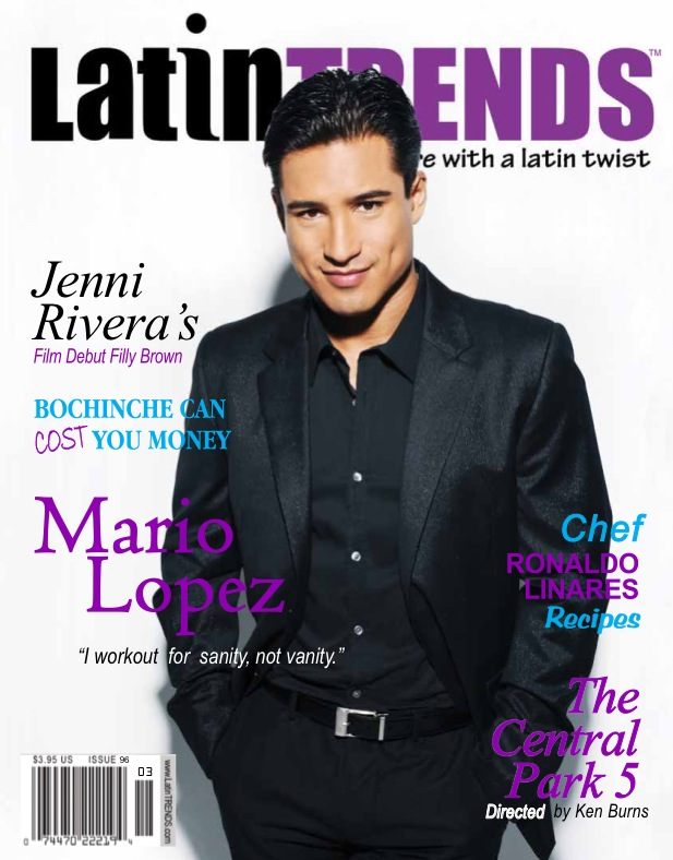 Mario Lopez LatinTRENDS Cover issue 96