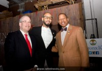Left to right: NYC Comptroller Scott Stringer, Swizz Beatz, Council Member Andy King