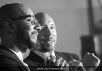 Swizz Beatz and Bronx Borough President Ruben Diaz, Jr