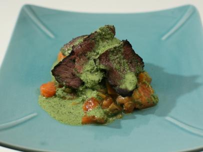 Smokey Filet with Serrano-Papaya Salsa and Serrano-Mint-Cilantro Chutney