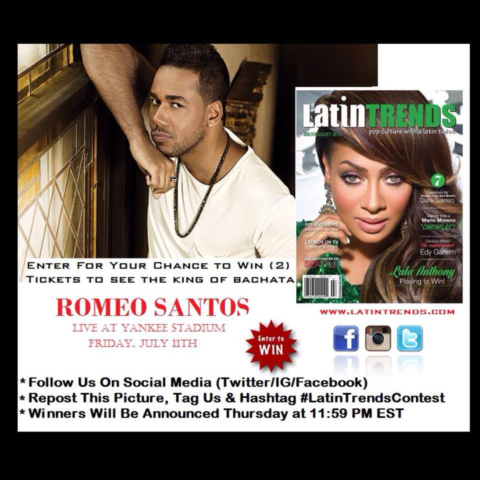 Be A Part Of History: Win (2) tickets to see ROMEO SANTOS at Yankee Stadium