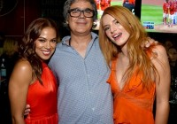 (L-R) Actress Toni Trucks, Miguel Arteta and Bella Thorne