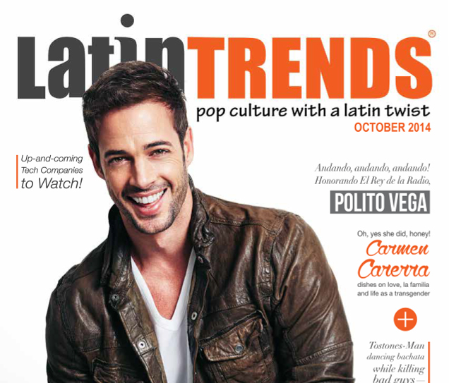 William Levy on Cover of LatinTRENDS