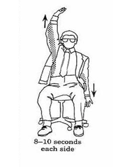1) 2 Side Arm Stretch