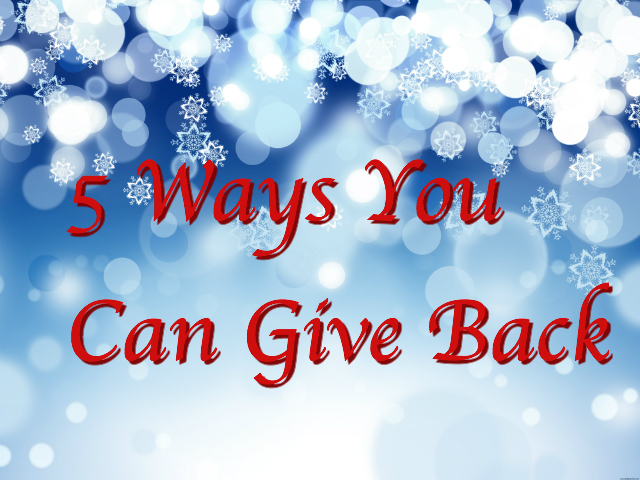 5 Ways You Can Give Back
