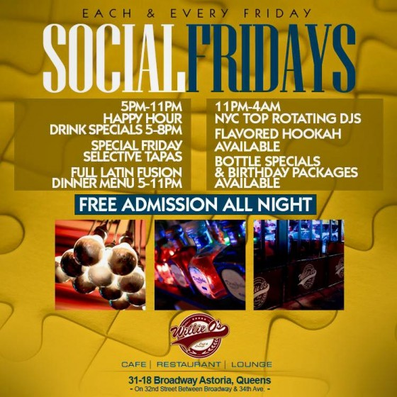 Willie O's Cafe and Lounge Social Friday poster