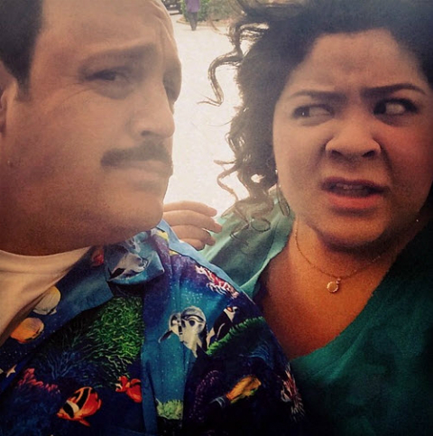 Selfie with Kevin James and Raini Rodriguez