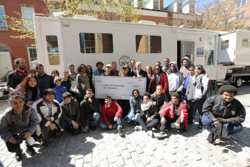 Amir Sukalic, Mayor's Office of Media and Entertainment/ Urban Arts Partnership receives Made in NY Community Grant