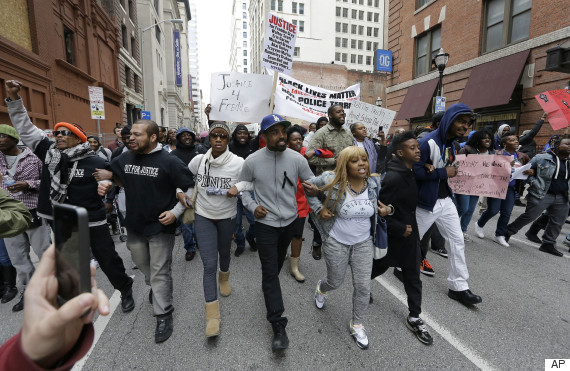 Latino Support: Latinos in Baltimore march for Freddie Gray & other lost Black Americans