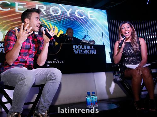 Prince Royce with Reyna Franco