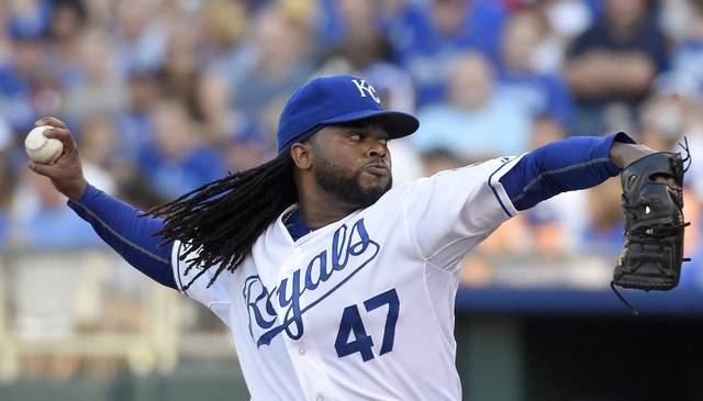 CUETO COMPLETE GAME PUTS ROYALS HALFWAY TO TITLE