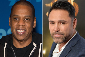 JAY Z AND OSCAR DE LA HOYA WAGER ON THEIR FIGHTERS