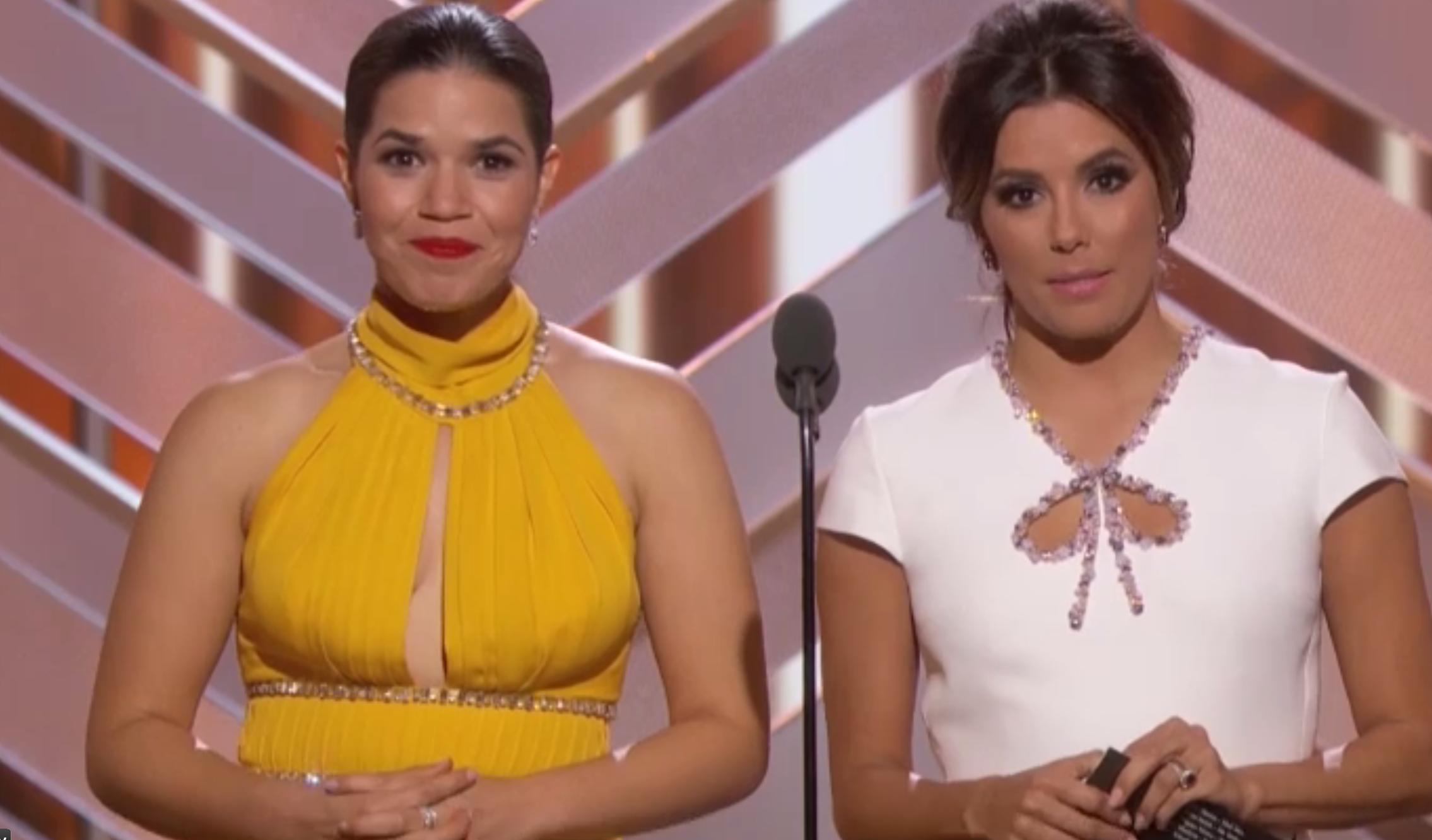 America Ferrera and Eva Longoria Poke Fun at the Golden Globes