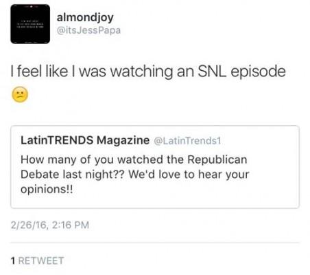 Are we watching SNL or a debate?
