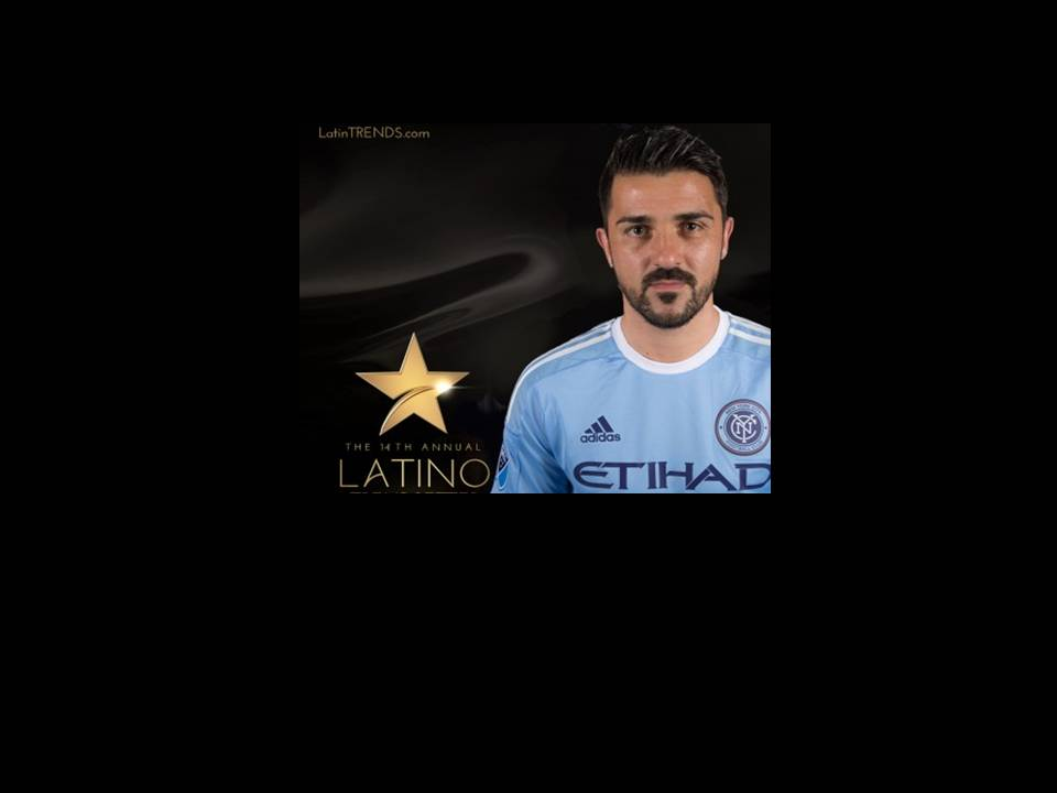 David Villa, New York City FC Team Captain Recognized by LatinTRENDS as 2016 Trendsetter Award recipient.