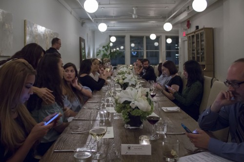 Guests anticipating third course.