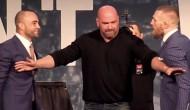 EDDIE ALVAREZ AND CONOR MCGREGOR WAR OF WORDS IGNITES UFC PRESS CONFERENCE