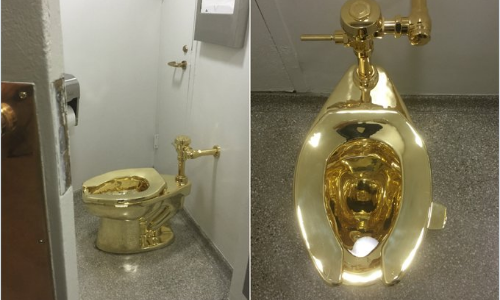 Want to take a Dump in a Gold Toilet?...Now you can
