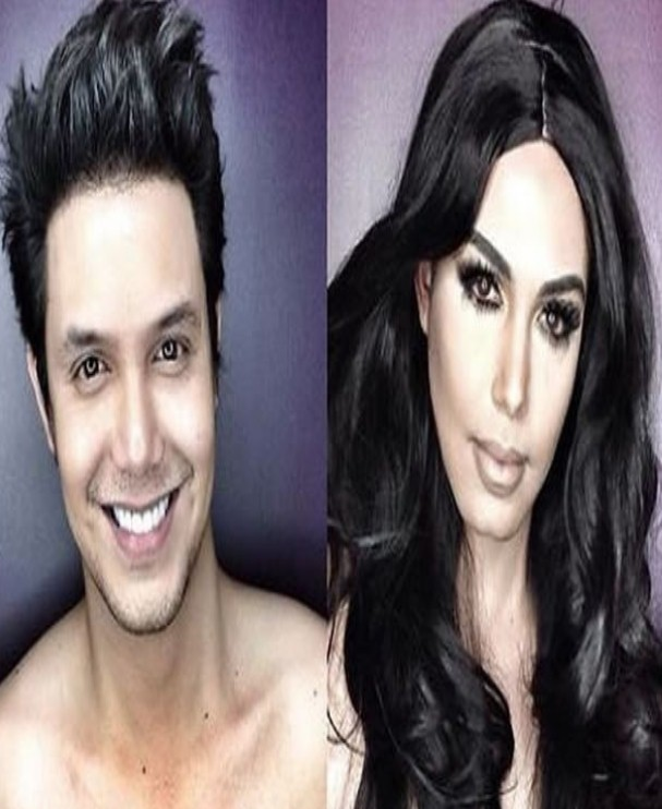 Actor transforms himself into female celebrities by using makeup techniques he picked from Youtube